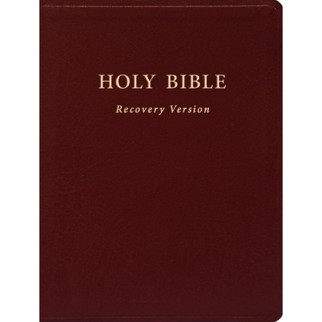 Holy Bible Recovery Version (With footnotes; Burgundy; Bonded leather; 10 x 7 1/8 )