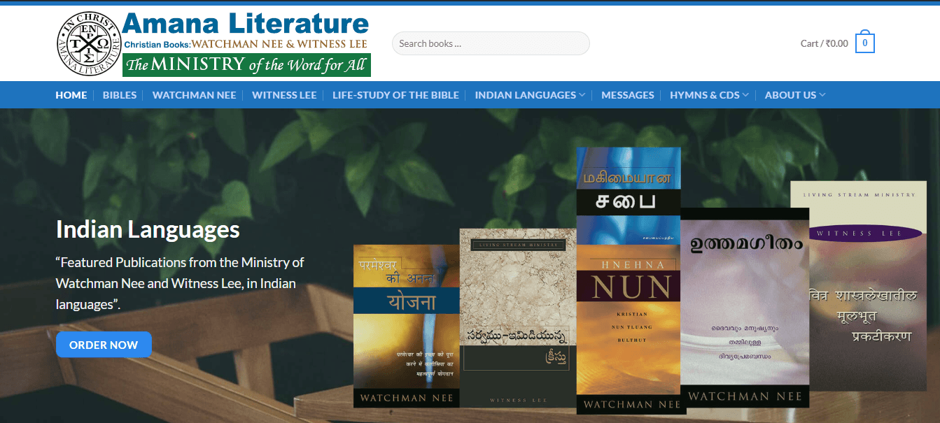 Amana Literature - The Ministry of the Word for All!